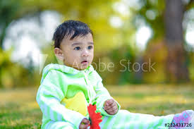 indian cute baby boy this stock