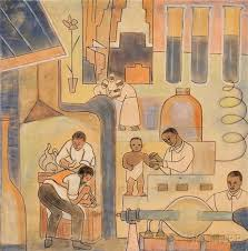 Medicine Drawing, A Mural Study by Thelma Johnson Streat on artnet