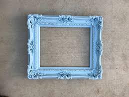 16x20 baby blue frame baroque mirror
