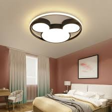Modern Led Cartoon Mickey Ceiling Light Kids Room Nursery Lamp Semi Flush Mount Ebay