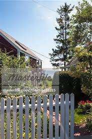 Waterfront House With White Picket Fence And View Of The Ocean Provincetown Cape Cod Massachusetts Usa Stock Photo Masterfile Rights Managed Artist Alberto Biscaro Code 700 06431215