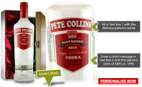 personalised vodka birthday presents