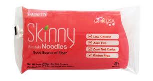 shirataki noodles nutrition lowest