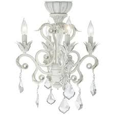 rubbed white chandelier ceiling fan