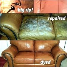 how to repair leather sofa