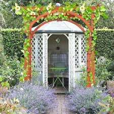 wooden garden arch seat vlight co