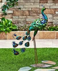 garden yard statue metal stake lawn