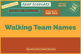 101 walking team names to step up your