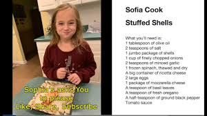 How to make Stuffed Shells by 6 year old Sophia (no titles) - YouTube