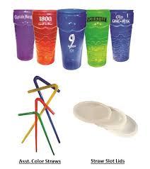tropical plastic stackable tiki glassware