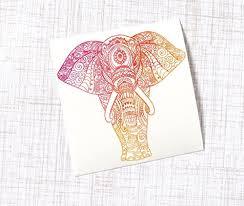 Elephant Mandala Vinyl Decal For Tumbler Buy Online In Cambodia At Desertcart