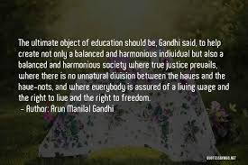top quotes sayings about education by gandhi