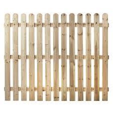 Round Top Picket Fence Panel Almec Fencing Ltd