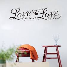 Love Is Patient Love Is Kind English Proverbs Wall Sticker Love Quote Decal For Kids Rooms Bedroom Living Room Home Decor Jzq099 Wall Stickers Aliexpress