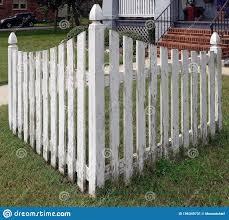 Corner Picket Fence Stock Image Image Of Front Picket 196349731