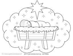 Jezus Wolk Van Een Baby Kerst Kleurplaat Kerst Kleurplaten
