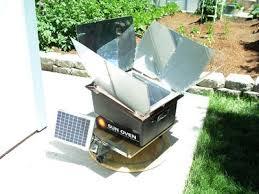 solar oven sun trackers first run in