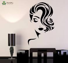 Yoyoyu Wall Decal Girls Beauty Salon Wall Stickers Haircut Fashion Vinyl Wallpaper Barbershop Art Mural Removable Decor Diysy885 Salon Wall Stickers Wall Stickerwall Decals Aliexpress