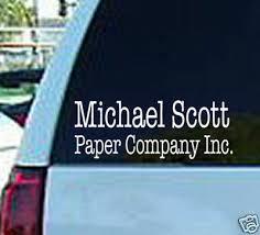 The Office Tv Michael Scott Paper Window Sticker Decal Ebay