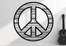 Peace Sign Wall Decal Peace Wall Decal Peace Sign Decal Etsy