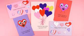 heart valentine card for kids