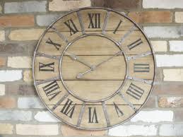 xl wooden wall clock gear design