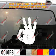 Ok Okay Hand Sign Decal Sticker Car Vinyl Pick Size Color No Bkgrd Style B Car Stickers Aliexpress