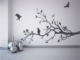 Tree Branch Wall Decal With Ravens Crows Mural By Quirkyworks33 25 00 Tree Branch Wall Wall Decals Mural