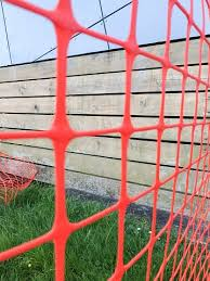 Orange Safety Netting Wooden Fence Stock Photo Download Image Now Istock