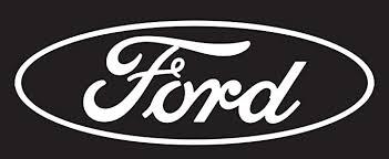 Amazon Com Chroma 4306 Ford Logo Cutz Rear Window Decal Automotive