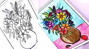 رسم بوكيه ورد كيف ارسم بوكيه ورد جميل مساء الورد