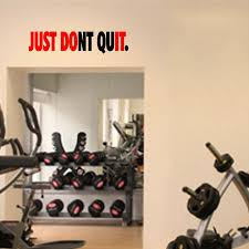 Jeyfel Decals Fitness Wall Decals Just Dont Quit Just Do It Vinyl Wall Art Sticker Decal Gym Informati Wall Decals Vinyl Wall Art Wall Stickers Murals