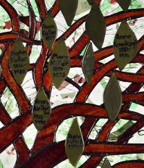 custom made stained glass family tree
