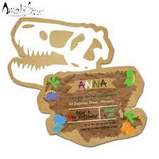 Dinosaurio Tema Tarjeta De Invitaciones De Cumpleanos Suministros