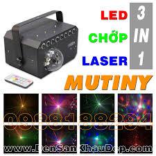 Đèn 3in1 LED Chớp Laser trang trí cho phòng hát Karaoke sôi động