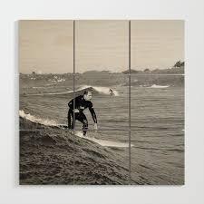Surf Vince Wood Wall Art by irishsurf | Society6
