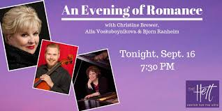"""The Hett on Twitter: """"McKendree Presents: An Evening of Romance tonight at  7:30 PM. Prepare yourselves for an unforgettable night full of romance with  Christine Brewer, Alla Voskoboynikova and Bjorn Ranheim. McKendree"""