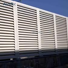 China Luxury Prefabricated Aluminium Fence Louver Panel For Corridors China Best Selling Aluminum Fence Pricing Adjustable Aluminium Fence Lovuer Panel