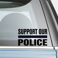 15 8 8cm Support Our Police With Thin Line Stripe Interesting Car Accessories Car Window Decal Sticker Cops Car Stickers Aliexpress
