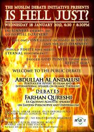 is hell just abdullah al andalusi vs farhan qureshi the muslim