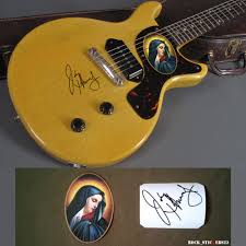 Johnny Thunders Decal Our Lady Of Sorrows Gibson Les Paul Junior Tv Johnny Thunders Gibson Les Paul Jr Les Paul Jr