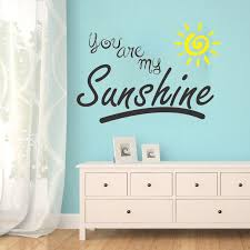 You Are My Sunshine Wall Decal Kids Sticker Nursery Childrens Room Yellow Sun Wall Decals Kids Childrens Roomkids Stickers Aliexpress