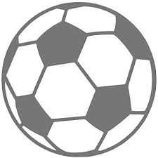 Amazon Com Soccer Ball Pick Any Color Vinyl Transfer Sticker Decal For Laptop Car Truck Window Bumper 3in X 3in Gray Arts Crafts Sewing