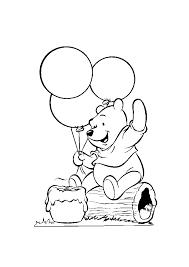 Winnie De Poeh Met Ballonen Winnie De Poeh Kleurplaten