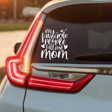 Funny Car Decal Mom Life Decal Funny Mom Decal Thou Etsy