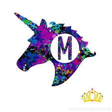Letter M Monogram Unicorn Decal For Yeti Cup Tumbler Laptop Or Car 3 Inch Height B079mc9ssb