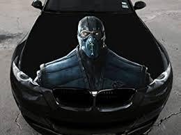 Amazon Com Stikka Vinyl Car Hood Full Color Wrap Graphics Decal Mortal Kombat Sub Zero Sticker 2 33 5 X55 85cm X 140cm Automotive