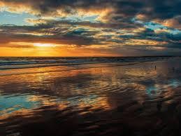 صورة عالية الدقة خالية من المحيط غروب الشمس