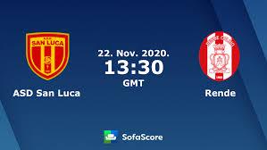 SAN Luca Calcio Rende live score, video stream and H2H results - SofaScore