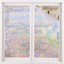 Amazon Com Volcanics Window Privacy Film Static Window Clings Vinyl 3d Window Decals Window Stickers Rainbow Window Film For Glass Door Home Heat Control Anti Uv 17 5 X 78 7 Inches Home Kitchen